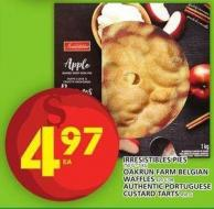 Irresistibles Pies Or Oakrun Farm Belgian Waffles Or Authentic Portuguese Custard Tarts