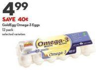 Goldegg Omega-3 Eggs 12 Pack