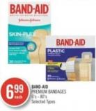 Band-aid Premium Bandages 6's-80's