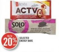 Selected Energy Bars