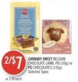 Carnaby Sweet Belgian Chocolate Lamb - Pig (50g) or PC Chocolates (150g)