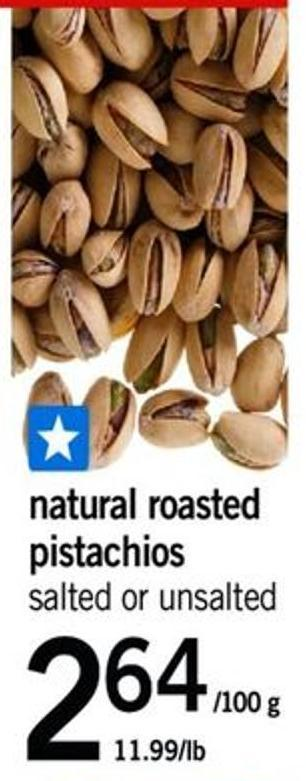 Natural Roasted Pistachios G