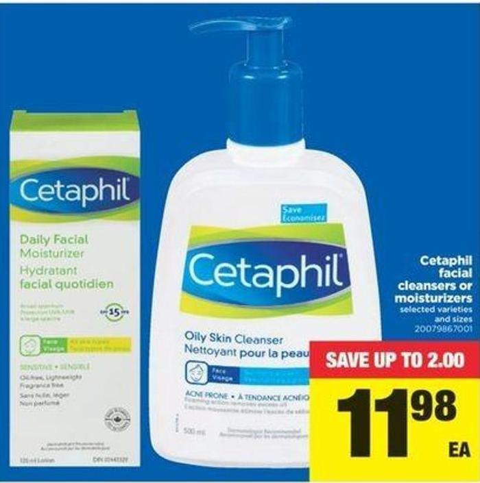 Cetaphil Facial Cleansers Or Moisturizers
