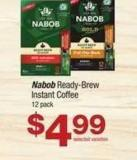 Nabob Ready-brew Instant Coffee - 12 Pack