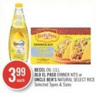 Becel Oil (1l) - Old El Paso Dinner Kits or Uncle Ben's Natural Select Rice
