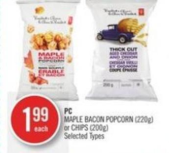 PC Maple Bacon Popcorn (220g) Or Chips (200g)