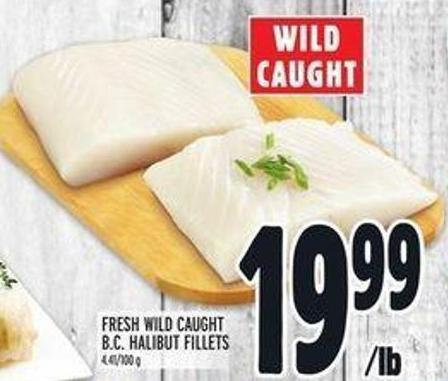 Fresh Wild Caught B.c. Halibut Fillets