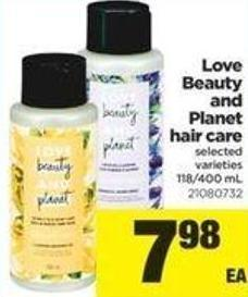 Love Beauty And Planet Hair Care - 118/400 Ml