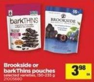 Brookside Or Barkthins Pouches - 150-235 g