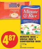 Minute Rice or Uncle Ben's Converted Rice - 1.2-2 Kg