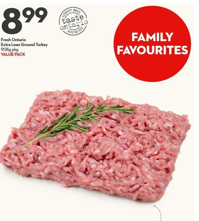 Fresh Ontario Extra Lean Ground Turkey