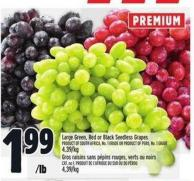 Large Green - Red Or Black Seedless Grapes