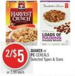 Quaker or PC Cereals