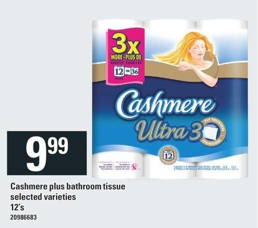 Cashmere Plus Bathroom Tissue - 12's