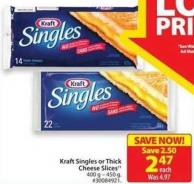 Kraft Shingles or Think Cheese Slices