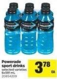 Powerade Sport Drinks - 6x591 mL