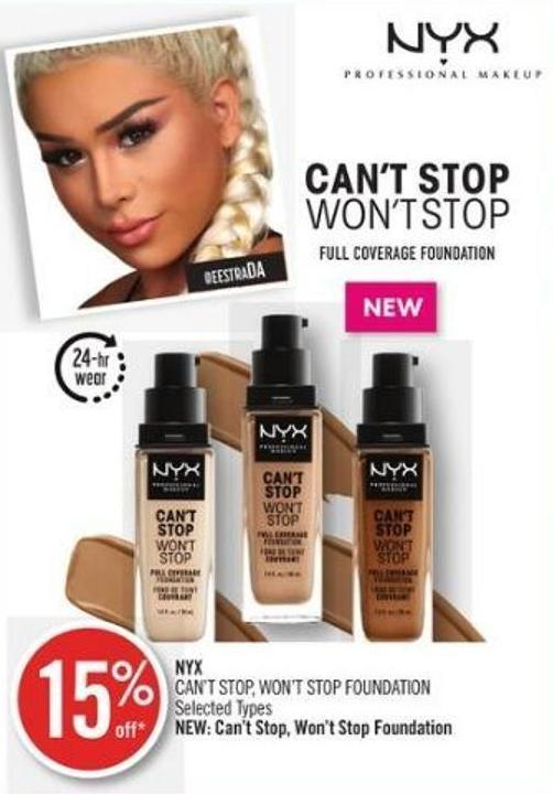 Nyx  Can't Stop - Won't Stop Foundation