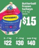 Butterball Frozen Turkeys 5-7 Kg