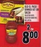 Old El Paso Dinner Kit Or Salsa