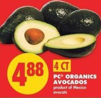 PC Organics Avocados - 4 Ct