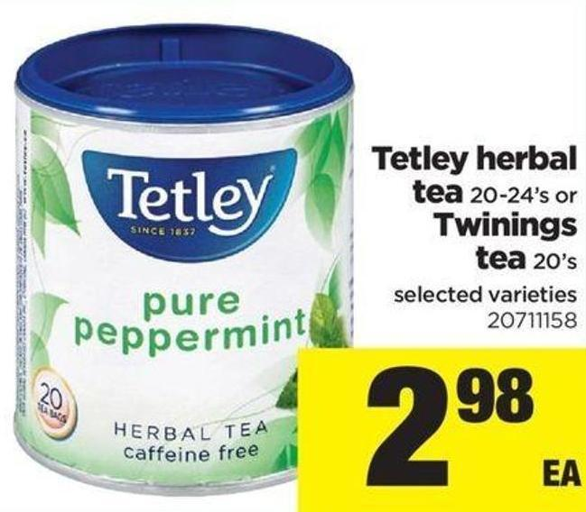 Tetley Herbal Tea .20-24's Or Twinings Tea - 20's