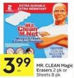 Mr. Clean Magic Erasers 2 Pk or Sheets 8 Pk