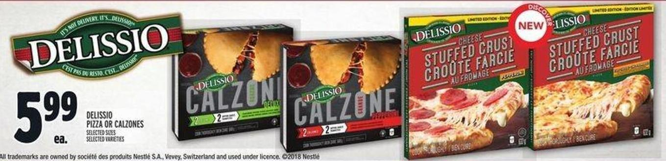 Delissio Pizza Or Calzones