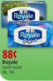 Royale Facial Tissue 88 - 126