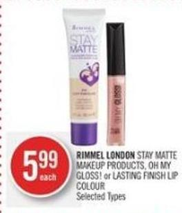 Immel London Stay Matte Makeup Products - Oh My Gloss! or Lasting Finish Lip Colour