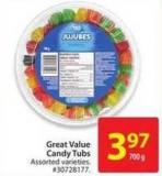 Great Value Candy Tubs