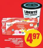 Yoplait Source or Creamy Yogurt - 16x100 g or Liberte Greek Yogurt - 750 g