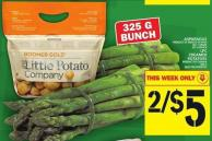 Asparagus Or Lpc Creamer Potatoes
