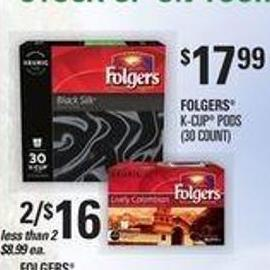 Folgers K-cup PODS - (12 Count)