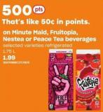 Minute Maid - Fruitopia - Nestea Or Peace Tea Beverages - 1.75 L