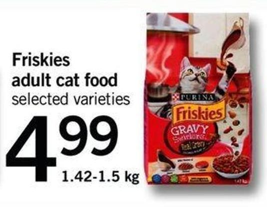 Friskies Adult Cat Food - 1.42-1.5 Kg