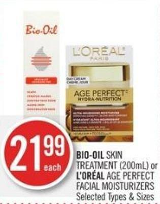 Bio-oil Skin Treatment (200ml) or L'oréal Age Perfect Facial Moisturizers