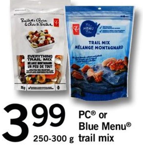 PC Or Blue Menu Trail Mix