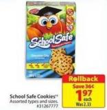 School Safe Cookies
