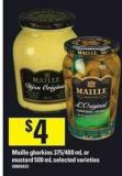 Maille Gherkins - 375/400 mL or Mustard - 500 mL