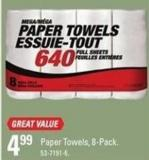 Mega Paper Towels - 8-pack