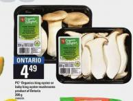 PC Organics King Oyster Or Baby King Oyster Mushrooms - 200 g