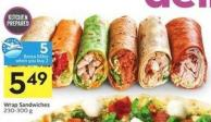 Wrap Sandwiches 230-300 g - 5 Air Miles Bonus Miles