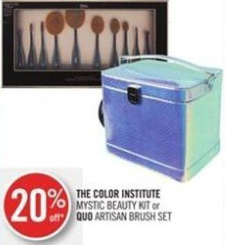 The Color Institute Mystic Beauty Kit or Quo Artisan Brush Set