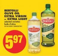 Bertolli Olive Oil Extra Virgin or Extra Light