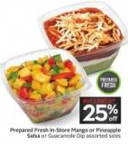 Prepared Fresh In-store Mango or Pineapple Salsa