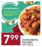 Compliments Meat Balls 560-680 g