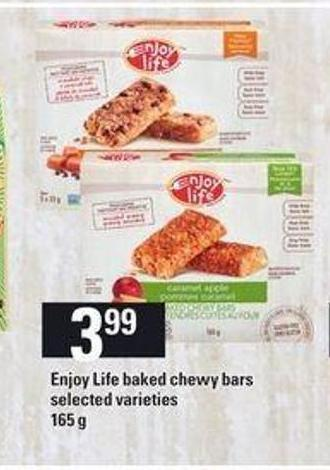 Enjoy Life Baked Chewy Bars - 165 g
