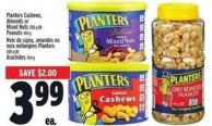 Planters Cashews - Almonds Or Mixed Nuts 200 G Or Peanuts 454 G