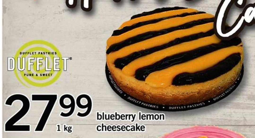 Blueberry Lemon Cheesecake - 1 Kg