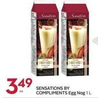 Sensations By Compliments Egg Nog 1 L
